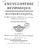 Encyclopédie méthodique mathématiques, 3 tomes