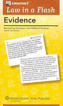 Law in a Flash Cards  Evidence  Print   EBook Bonus Pack