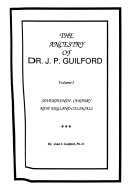 The Ancestry Of Dr J P Guilford Seventeenth Century New England Colonials