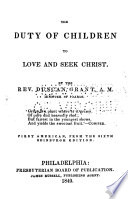 The Duty Of Children To Love And Seek Christ