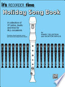 It s Recorder Time  Holiday Songbook