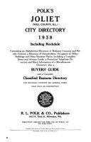 Polk's Joliet (Will County, Ill.) City Directory