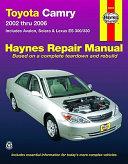 Toyota Camry 2002 Thru 2006