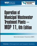 Operation Of Municipal Wastewater Treatment Plants Management And Support Systems