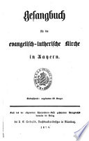 Gesangbuch f  r die evang  luther  Kirche in Bayern