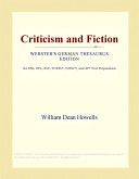 Criticism and Fiction  Webster s German Thesaurus Edition