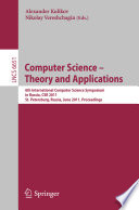 Computer Science     Theory and Applications