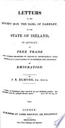 Letters to the Right Hon. the Earl of Darnley, on the State of Ireland
