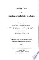 Zeitschrift der Deutschen Morgenländischen Gesellschaft