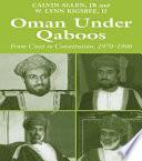 Ebook Oman Under Qaboos Epub Calvin H. Allen,W. Lynn Rigsbee II Apps Read Mobile