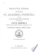 Pamätná kniha Spolku Sv. Adalberta (Vojtecha)