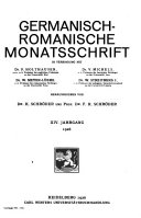 Germanisch Romanische Monatsschrift