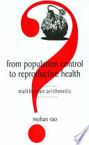 From Population Control To Reproductive Health book