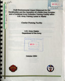 download ebook construction and the operation of a battle area complex and a combined arms collective training facility within u.s. army training lands in alaska pdf epub