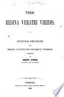Über Resina Veratri Viridis