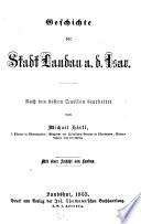 Geschichte der Stadt Landau a. d. Isar