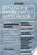 Finance and Investment Handbook