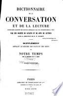 Dictionnaire de la conversation et de la lecture inventaire raisonné