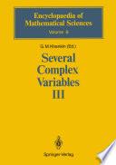 Several Complex Variables III