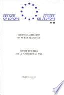 Accord européen sur le placement au pair (STE 68)