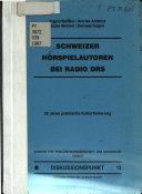 Schweizer H  rspielautoren bei Radio DRS
