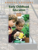 Annual Editions  Early Childhood Education 09 10