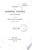 Lezioni di geometria analitica a due e tre coordinate ad uso delle regie universit   nel regno d Italia  Parte 1    2