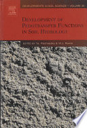 Development of Pedotransfer Functions in Soil Hydrology