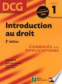 Introduction Au Droit 2e Dition Dcg Epreuve 1 Corrig S Des Applications