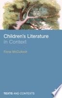 Children s Literature in Context