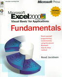 Microsoft Excel 2000 Visual Basic for Applications Fundamentals