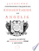 Jacobi Ode Professoris Trajectini  Commentarius de angelis