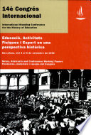 Education  physical activities and sport in a historical perspective    Educaci    activitats f  siques i esport en una perspectiva hist  rica    XIV ISCHE Conference 1992   conference working papers