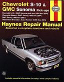 Chevrolet S 10 Gmc Sonoma Pick Ups