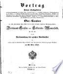 Vortrag ... in der Versammlung des grossen Ausschusses der ersten österr. Spar-Casse und der allgemeinen Versorgungs-Anstalt (etc.)