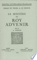 Le myst  re du roy Advenir