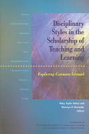 Disciplinary Styles in the Scholarship of Teaching and Learning