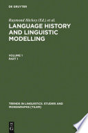 Language History and Linguistic Modelling