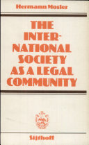 The International Society as a Legal Community