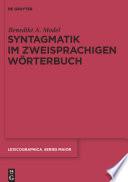 Syntagmatik im zweisprachigen W  rterbuch