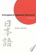 Principles of Japanese Discourse