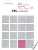 GSA Subcontracting Directory