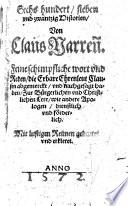 Sechs hundert sieben und zwantzig Historien Von Claus Narrenn
