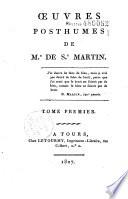 Oeuvres posthumes de Mr de St Martin