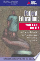 Patient Education  You Can Do It