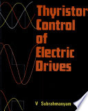 Thyristor Control of Electric Drives