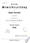 Deutsche Gewerbezeitung und Sächsisches Gewerbe-Blatt