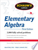 Schaum s Outline of Elementary Algebra  3ed