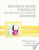 Research Based Strategies for Improving Outcomes in Behavior