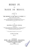 History of the Reign of Henry IV  King of France and Navarre Book PDF